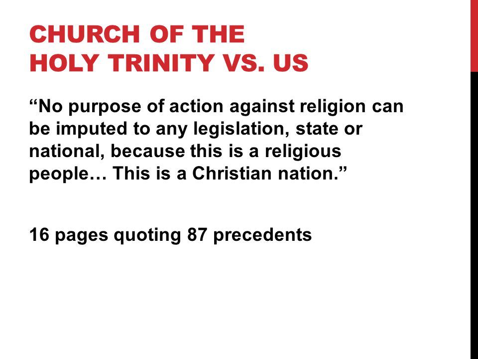 Church of the Holy Trinity vs. US