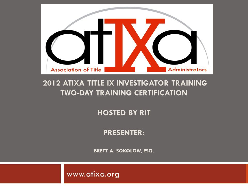 www.atixa.org www.ncherm.org