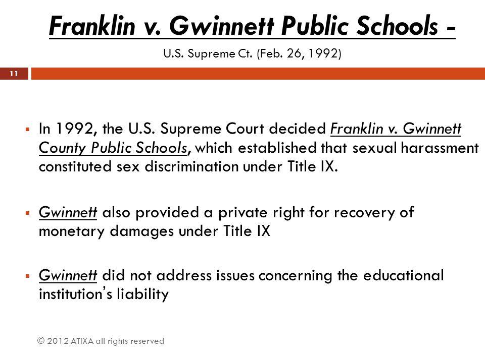 Franklin v. Gwinnett Public Schools -