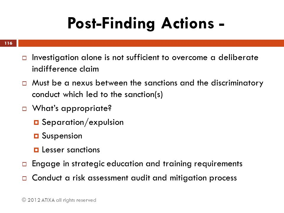 Post-Finding Actions -