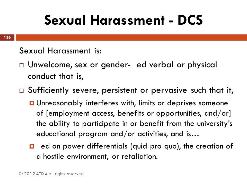 Sexual Harassment - DCS