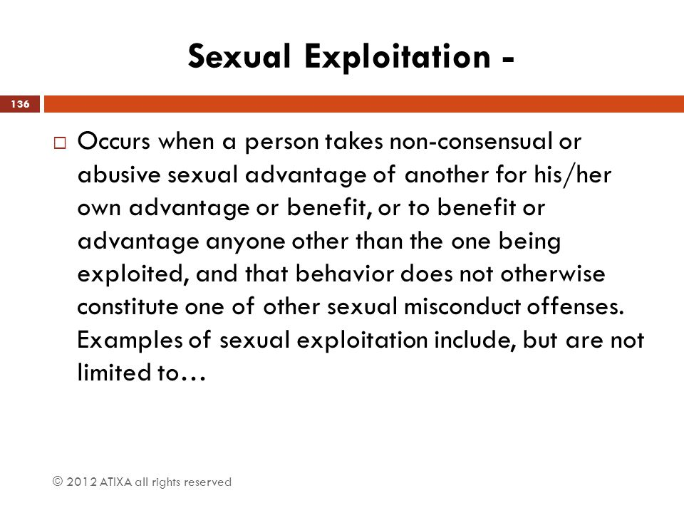 Sexual Exploitation -