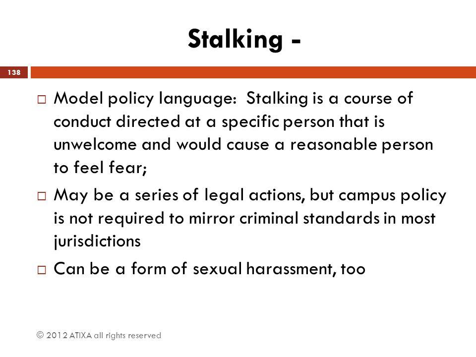 Stalking -