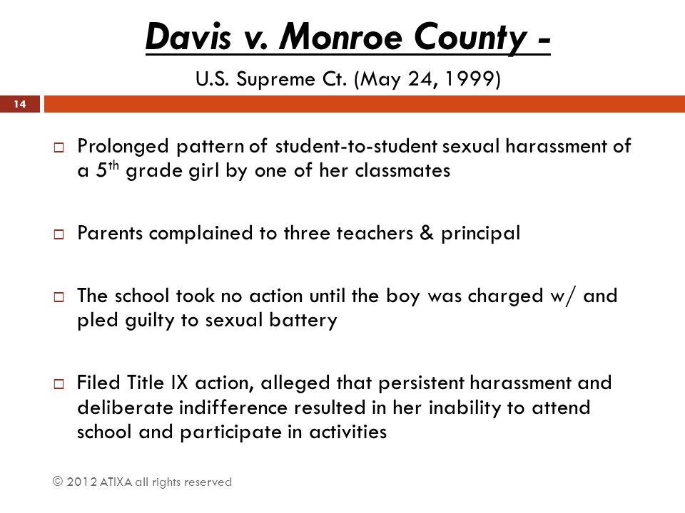 Davis v. Monroe County - U.S. Supreme Ct. (May 24, 1999)