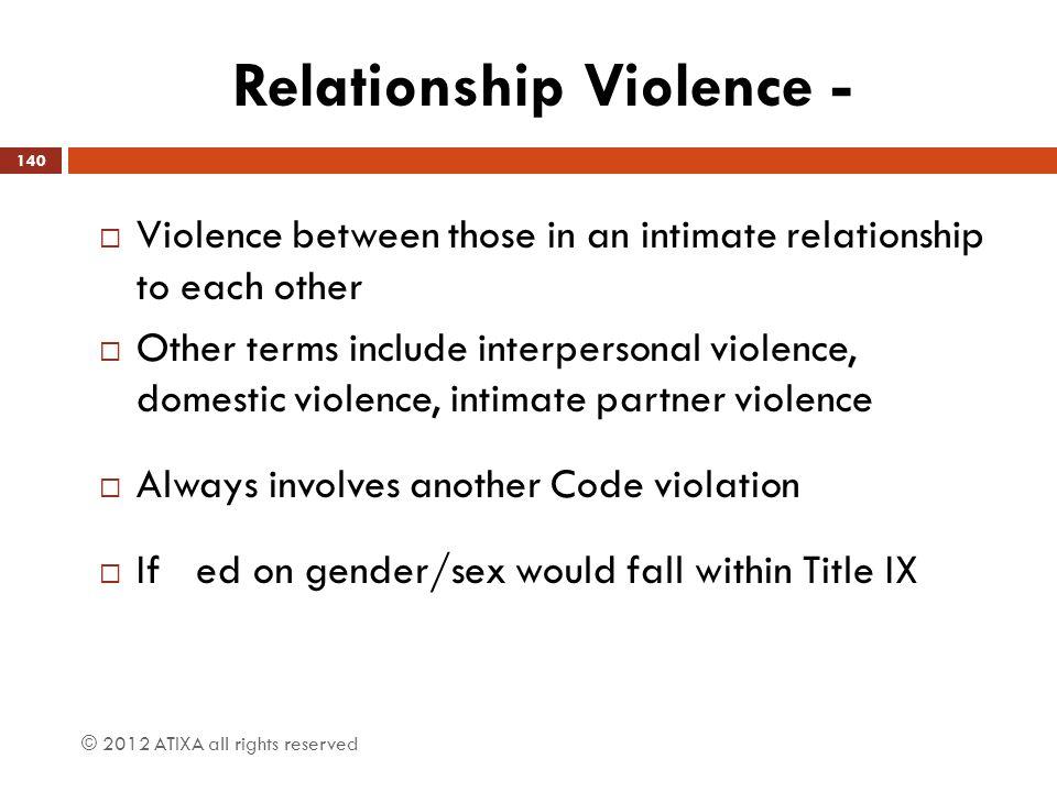 Relationship Violence -