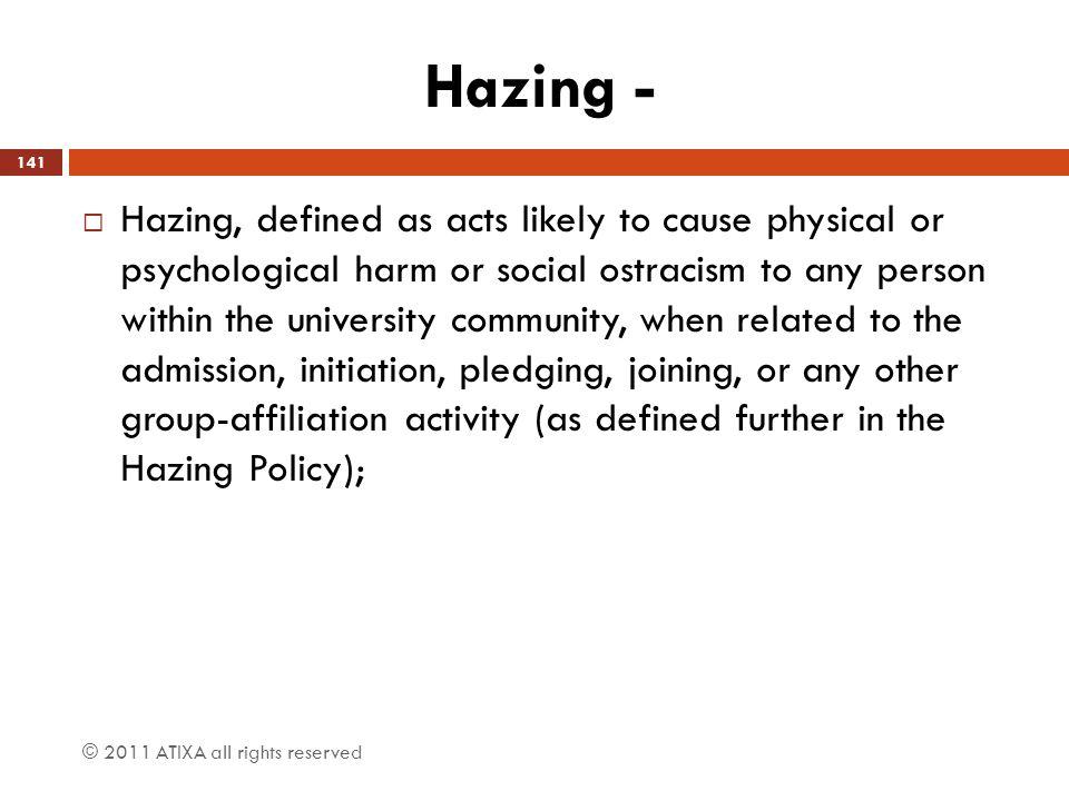 Hazing -