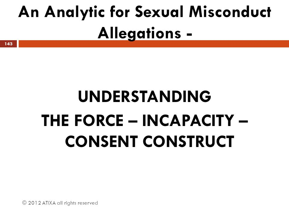 An Analytic for Sexual Misconduct Allegations -