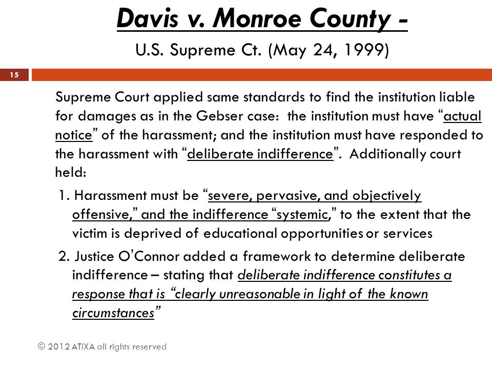 Davis v. Monroe County - U.S. Supreme Ct. (May 24, 1999)