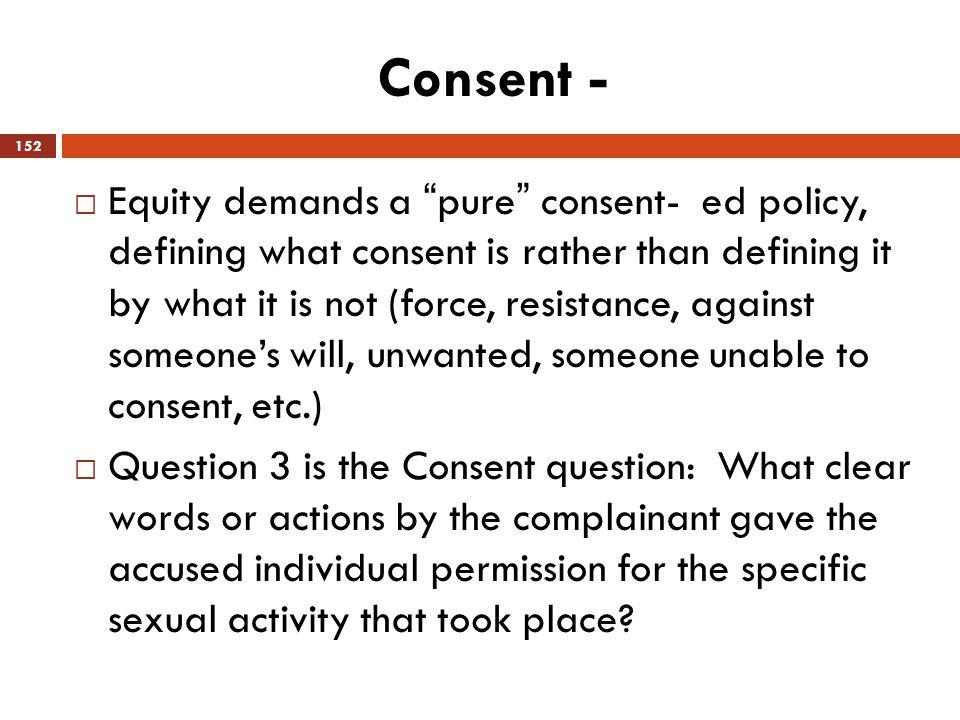 Consent -