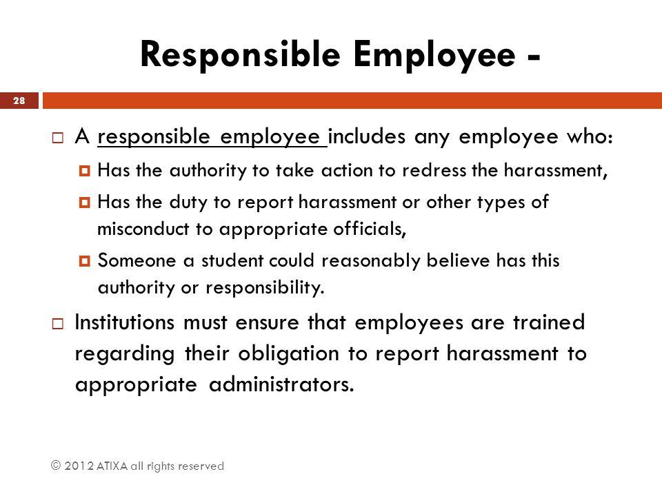 Responsible Employee -