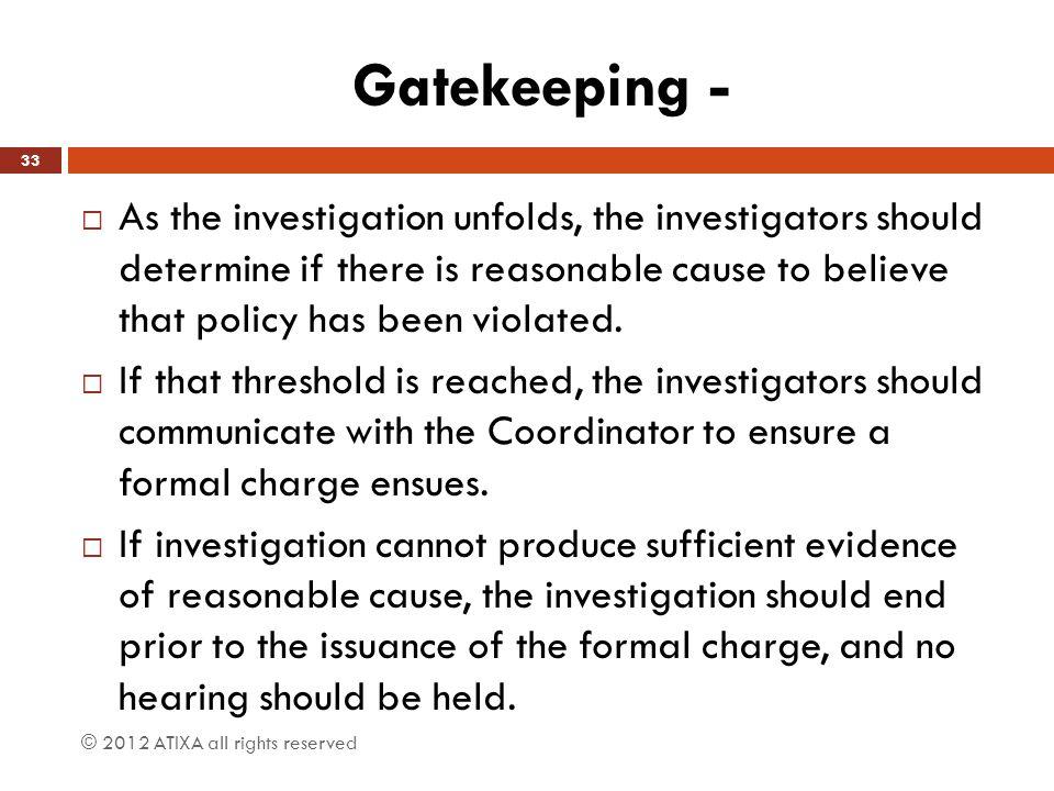 Gatekeeping -