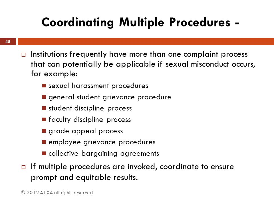 Coordinating Multiple Procedures -