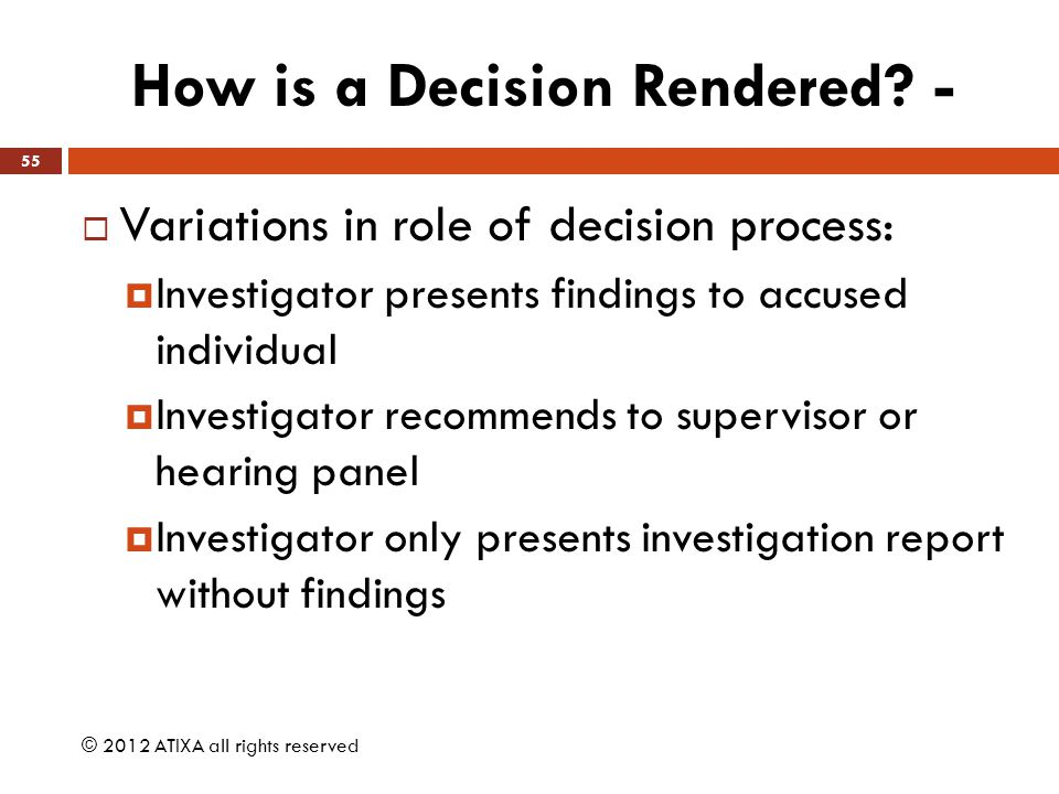 How is a Decision Rendered -