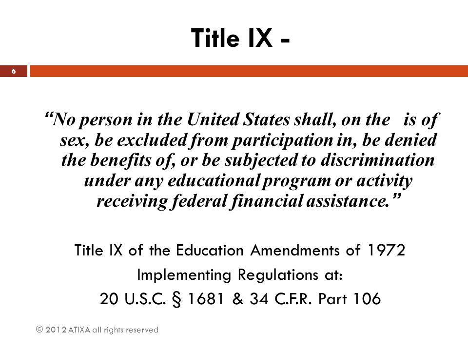 Title IX -