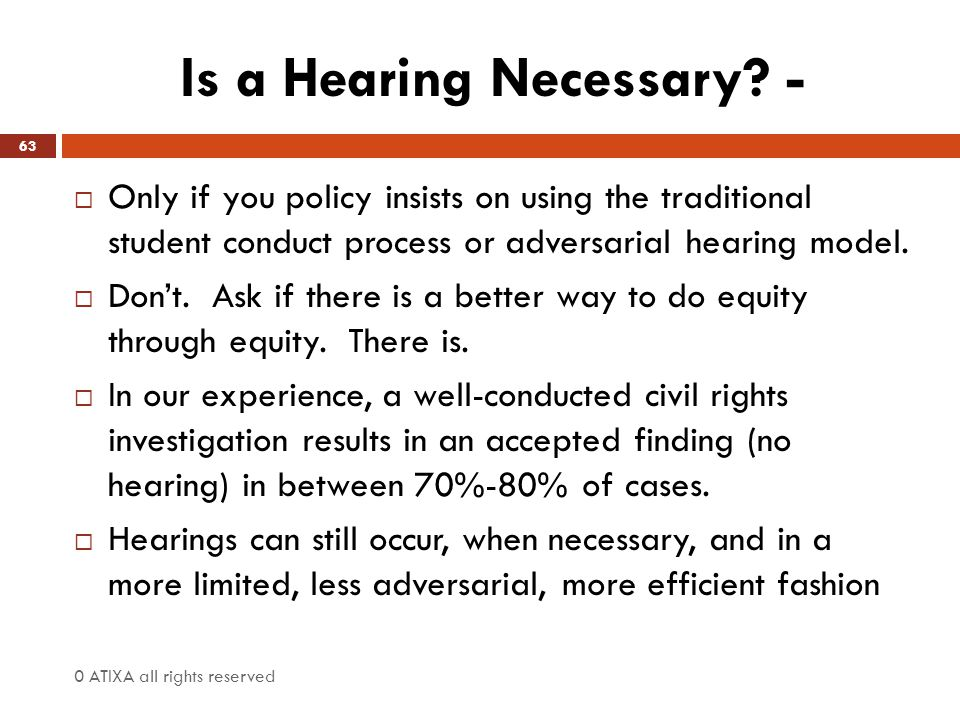 Is a Hearing Necessary -