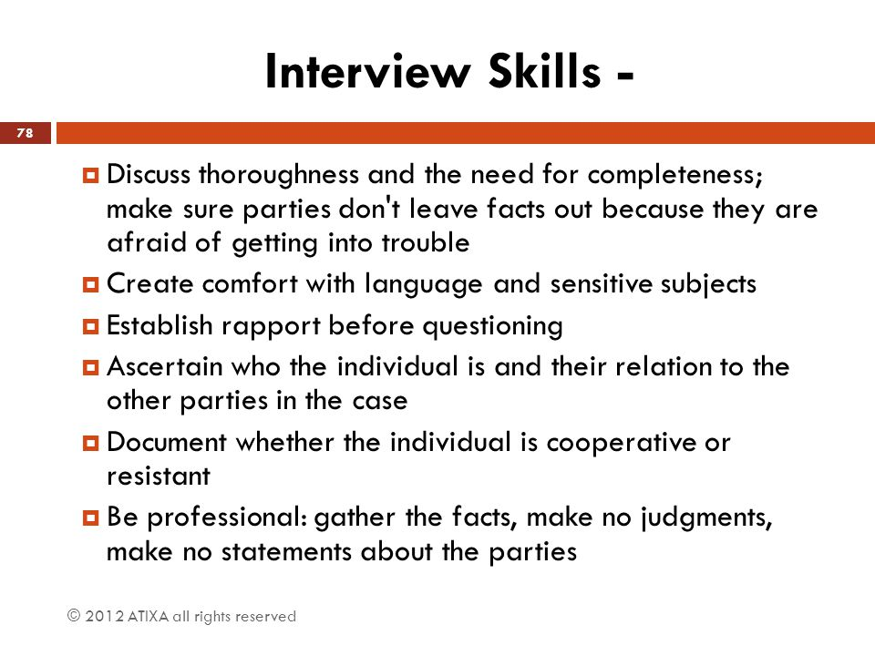 Interview Skills -