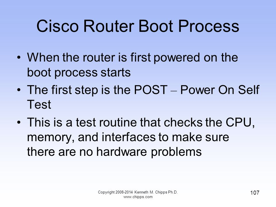 Cisco Router Boot Process