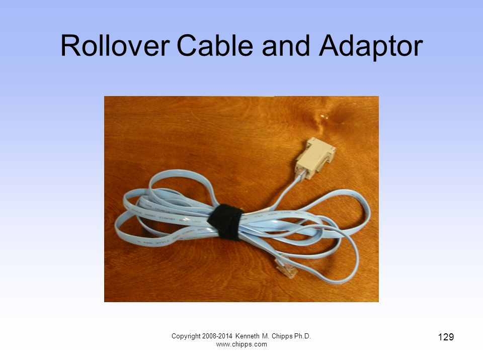 Rollover Cable and Adaptor