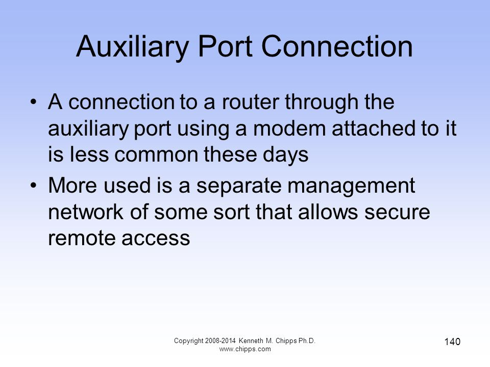 Auxiliary Port Connection