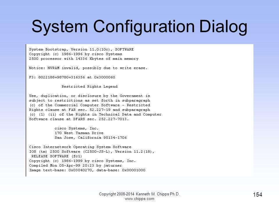 System Configuration Dialog