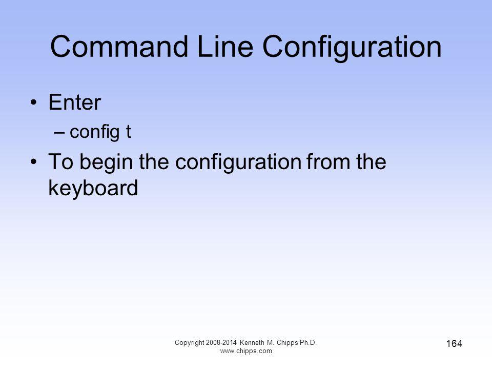Command Line Configuration