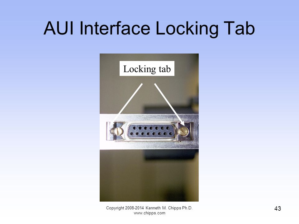 AUI Interface Locking Tab