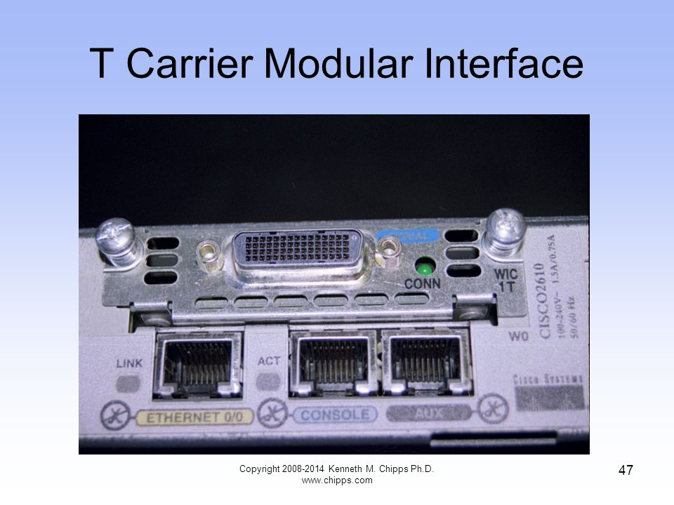 T Carrier Modular Interface