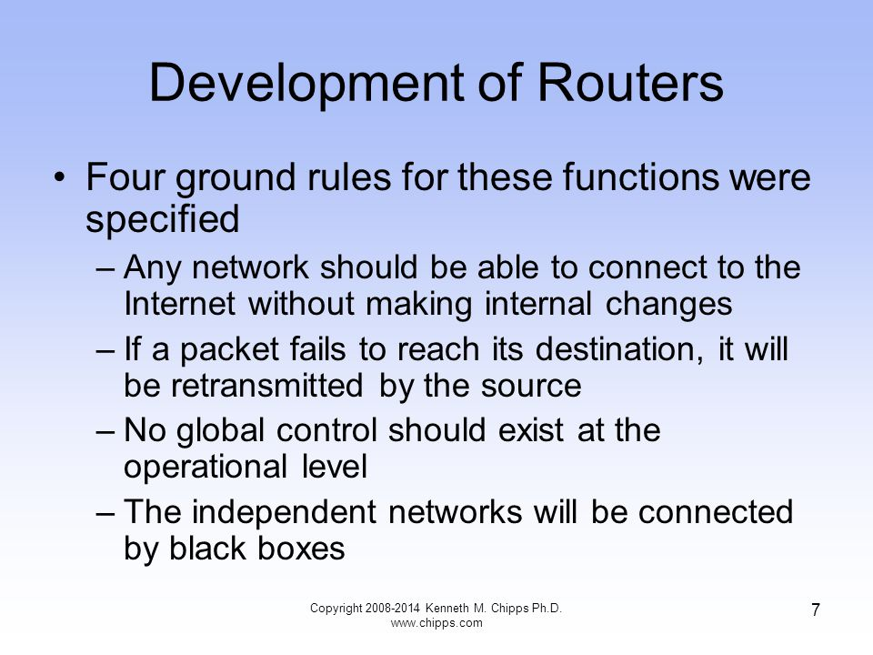 Development of Routers