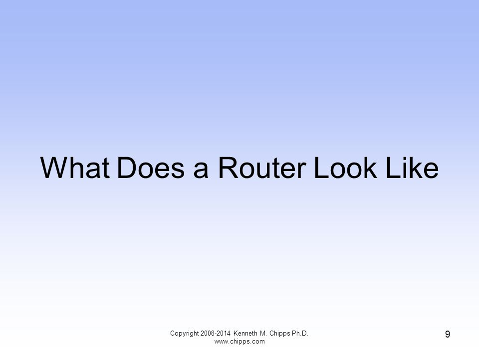 What Does a Router Look Like