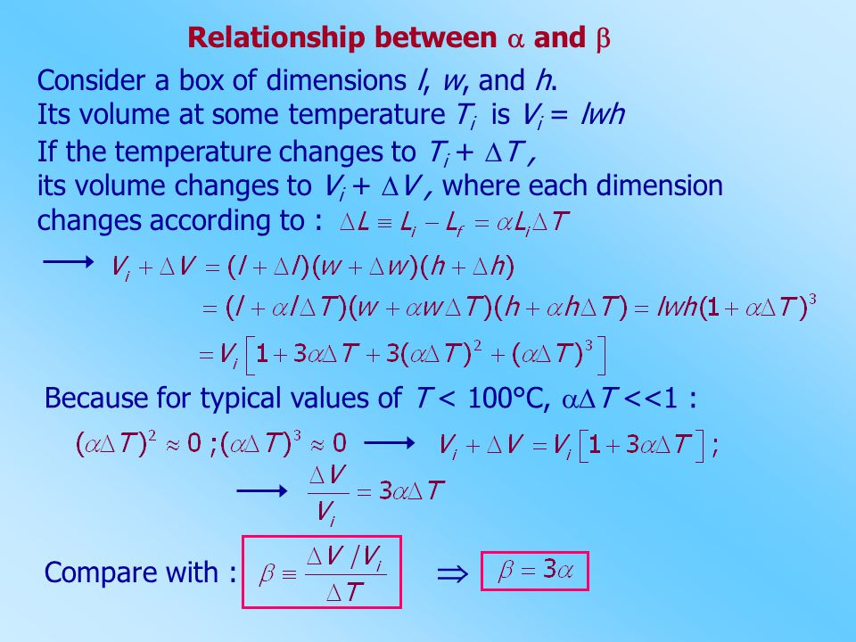  Relationship between  and 