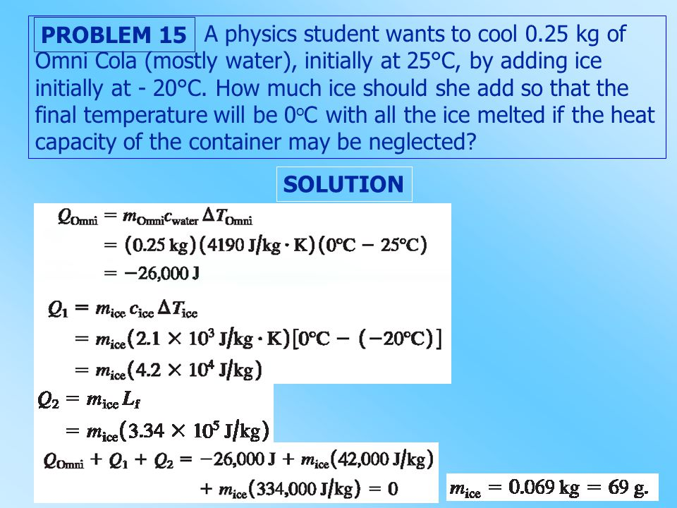 A physics student wants to cool 0