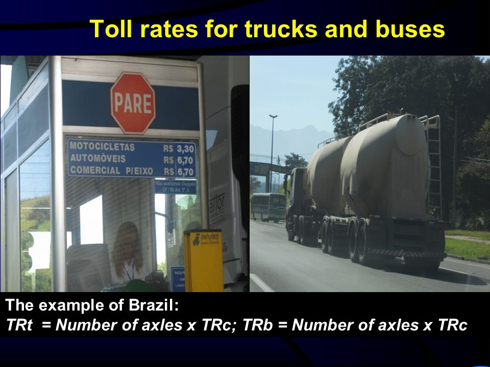 Toll rates for trucks and buses