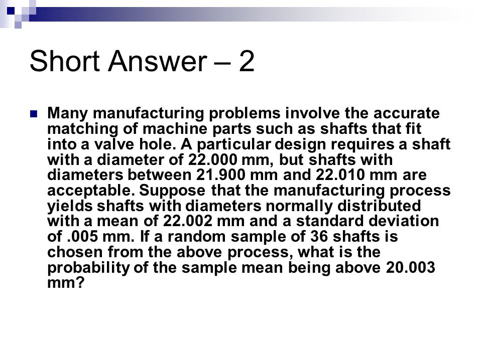 Short Answer – 2