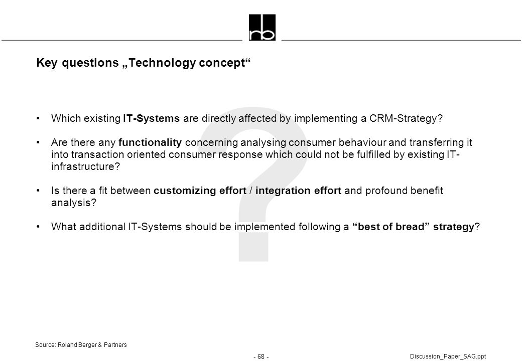 "Key questions ""Technology concept"