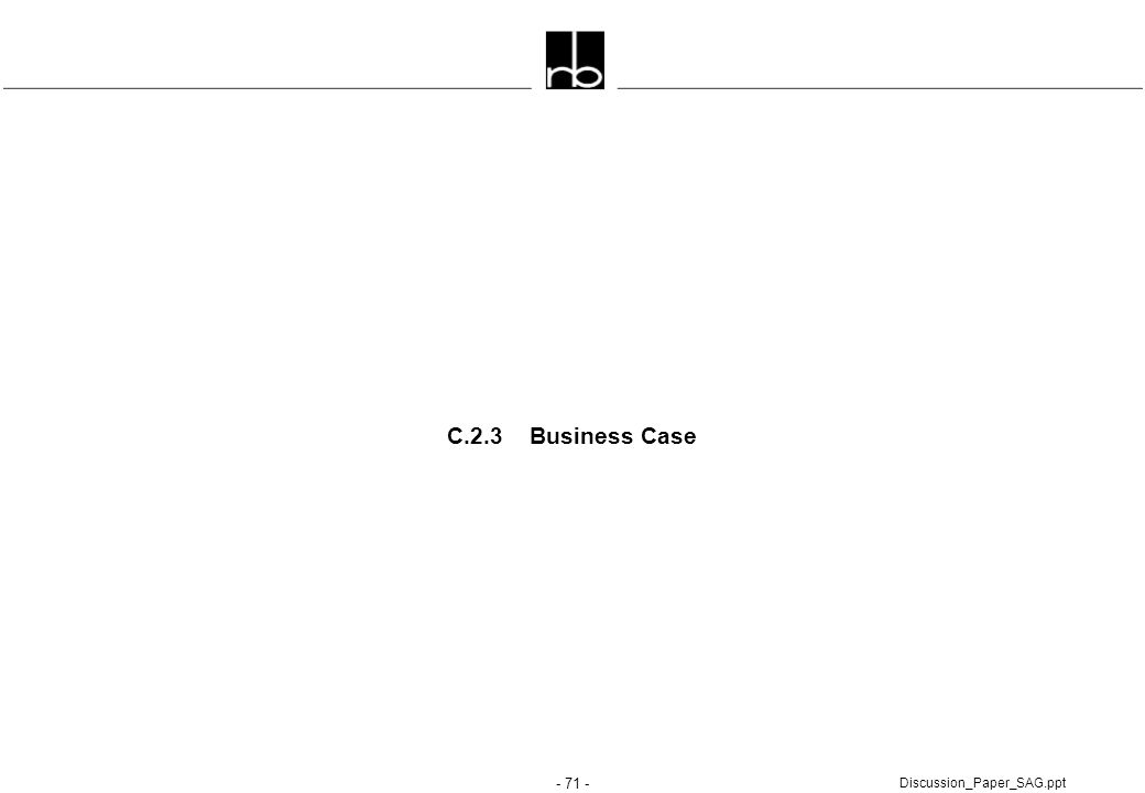 C.2.3 Business Case Discussion_Paper_SAG.ppt