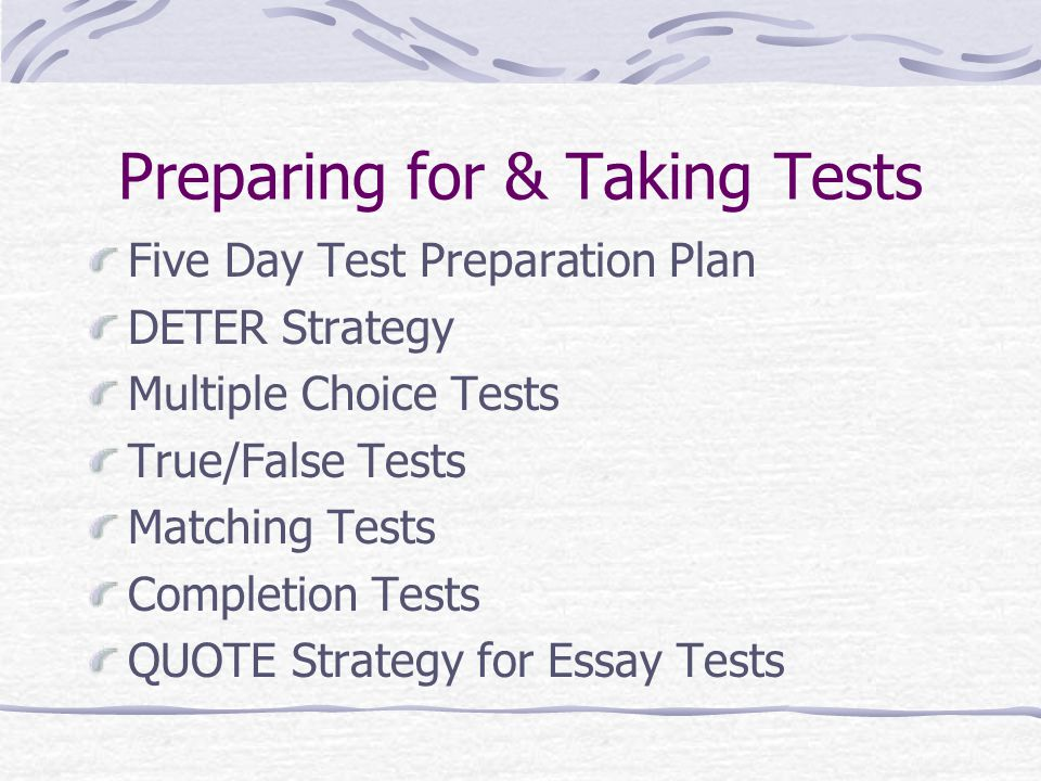 preparing essay tests Page non trouvée!