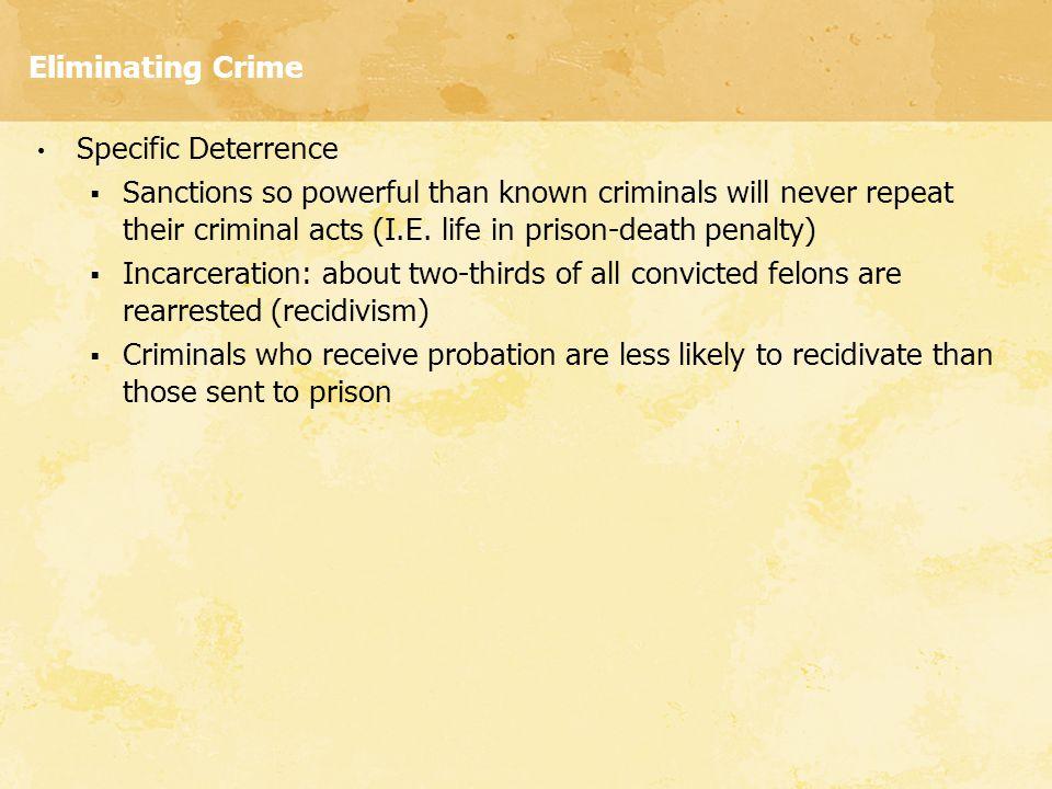 Eliminating Crime Specific Deterrence.