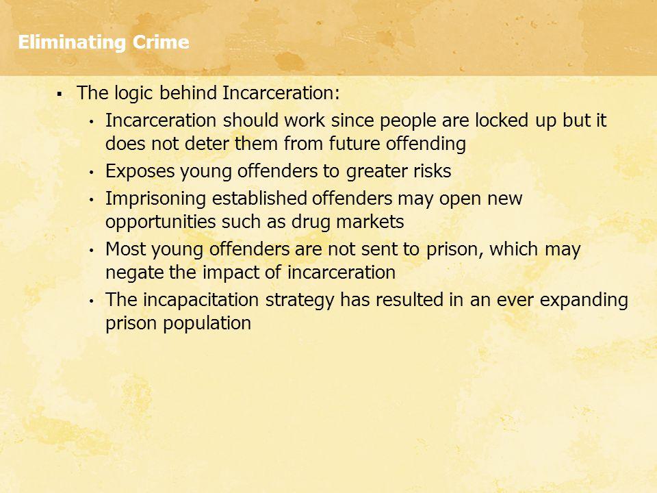 Eliminating Crime The logic behind Incarceration: