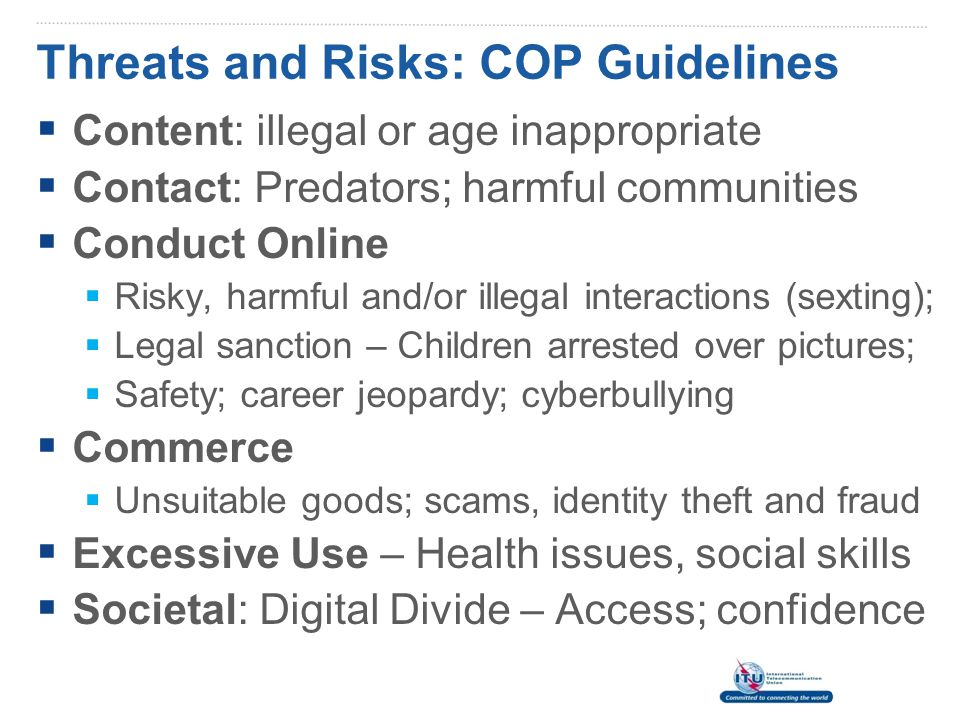 Threats and Risks: COP Guidelines