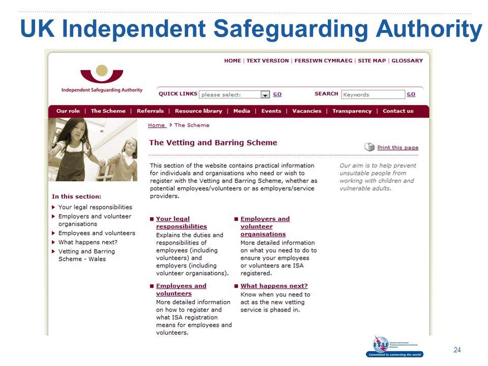 UK Independent Safeguarding Authority