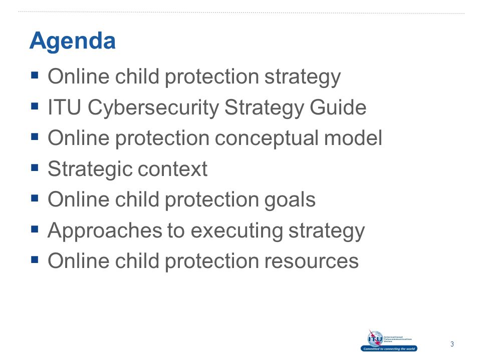Agenda Online child protection strategy