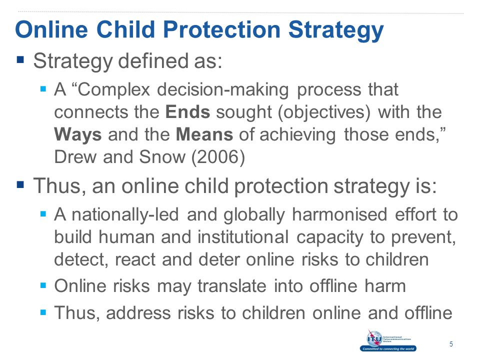 Online Child Protection Strategy