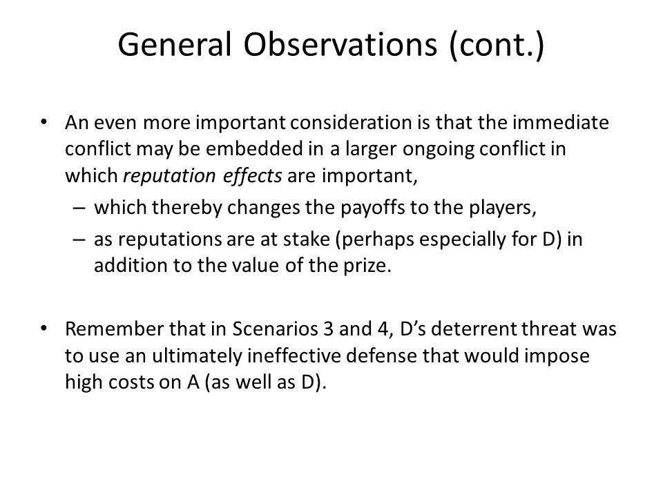 General Observations (cont.)