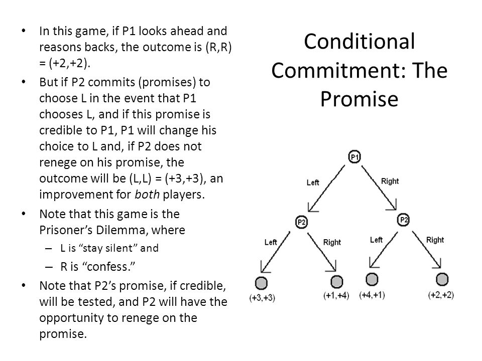 Conditional Commitment: The Promise