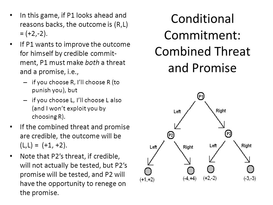 Conditional Commitment: Combined Threat and Promise