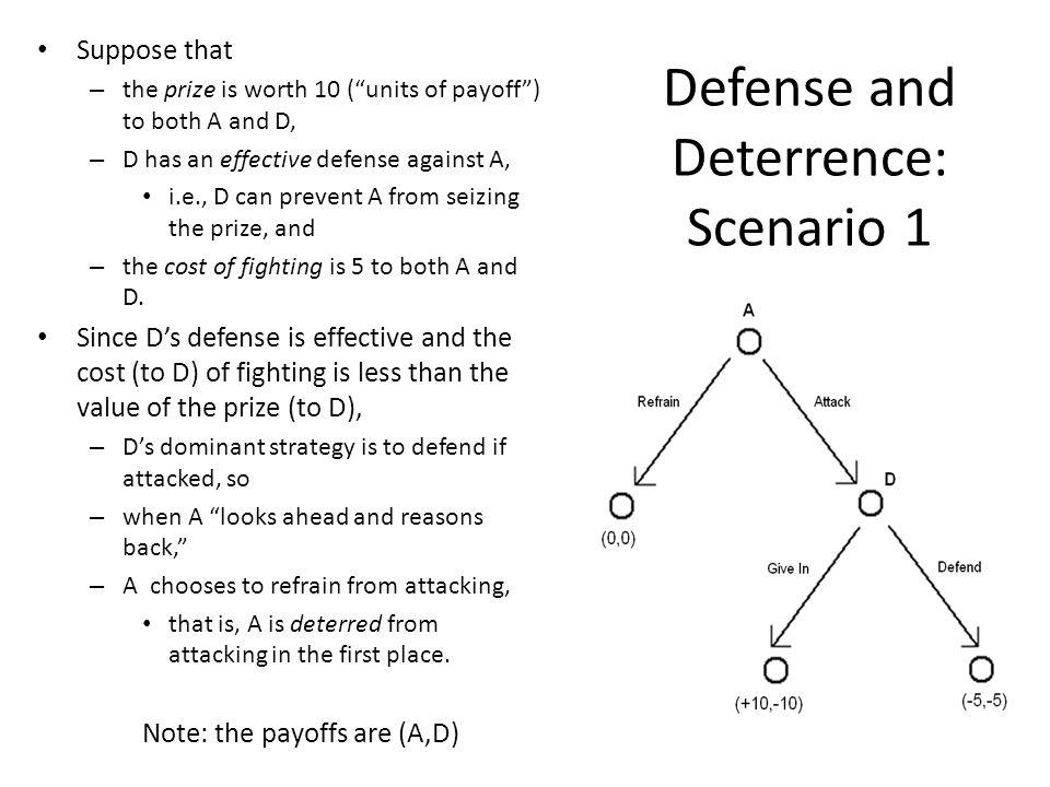 Defense and Deterrence: Scenario 1