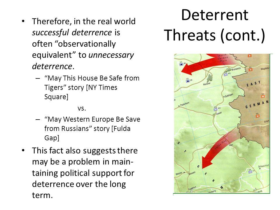 Deterrent Threats (cont.)