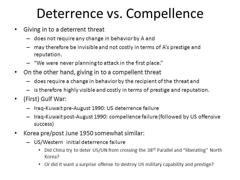 Deterrence vs. Compellence