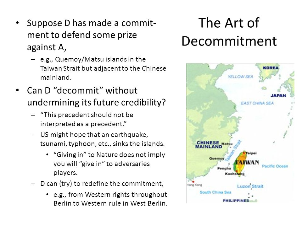 The Art of Decommitment
