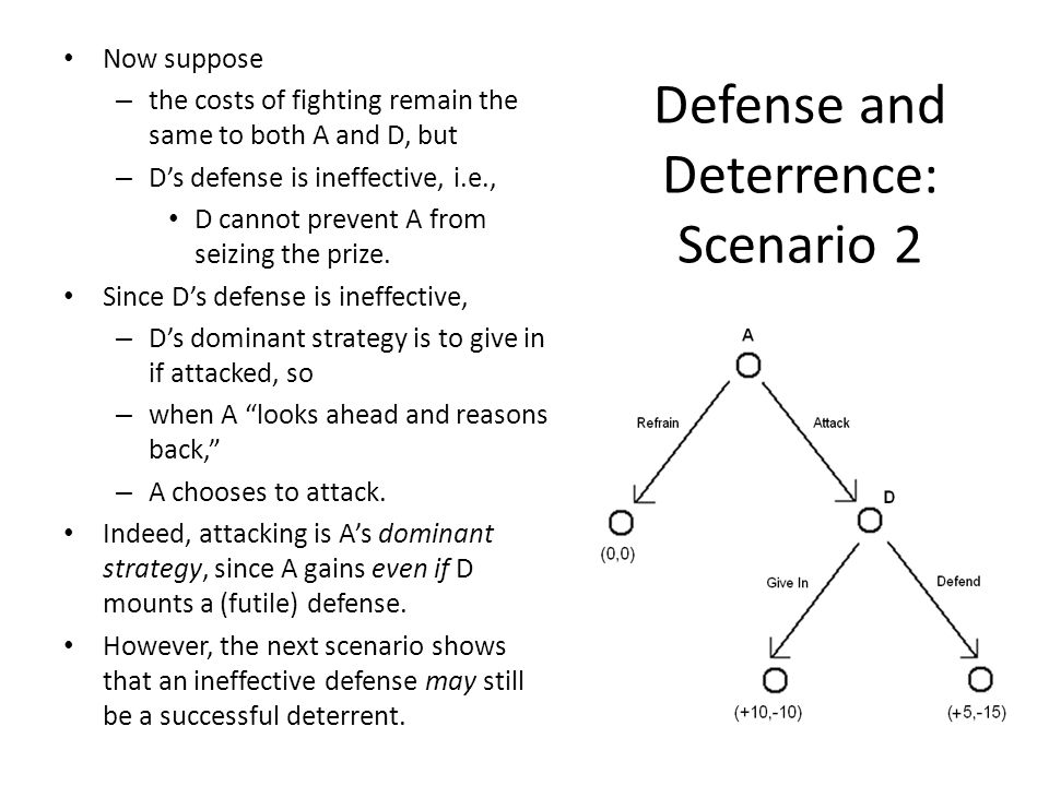 Defense and Deterrence: Scenario 2